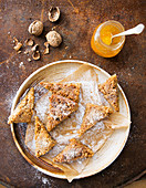 Orange and walnut triangles