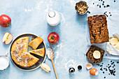 Zimt-Apfel-Teekuchen und Irish Barmbrack Teekuchen