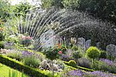 Garten mit Rasensprenger beregnen