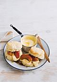 Apple and custard scones