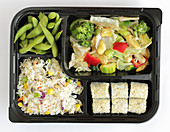A vegan bento menu