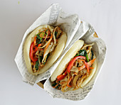 Bao buns with vegetables