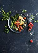 Hähnchenschnitzel-Auflauf mit Gemüse
