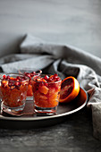 Blood orange Campari granita