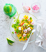 Mango and avocado ceviche