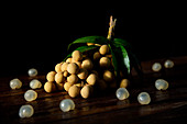 Fresh Longans - he fruit is edible, has a sweet taste, and is often used for cooking