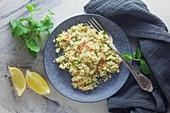 Couscous salad with mint and lemon