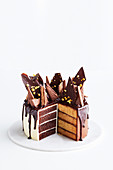 Tim Tam honeycomb cake, sliced (Australia)