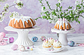 Easter Bundt cakes and cupcakes
