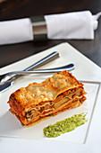 Mushroom and aubergine lasagne