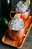 Moscow Mule (cocktail with vodka, ginger beer and lime)