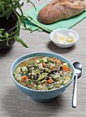 French-style lentil soup