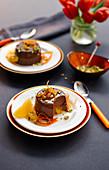 Chocolate and orange panna cotta