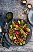 Roasted mini vegetables