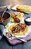 Burrito wraps with bean rice