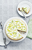 Lime and elderflower cheesecake