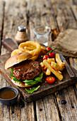Pulled Brisket Burger with Gravy Dip