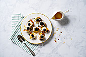 Grilled Peaches with Blackberries and Whipped Cream