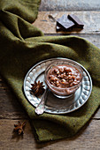 Chocolate rice pudding with star anise