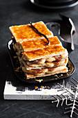 Millefeuille brulée with chestnut cream