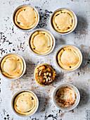 Mini artichoke and anchovy tart tatins
