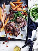 Feta, Basil and Vegetable Lamb Roasts