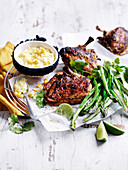 Cajun Roast Chicken with Corn Cream