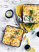 Salmon Mornay Pie with Celeriac