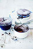 Warm Choc-Caramel Puddings