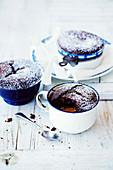Warm Choc-Caramel Puddings