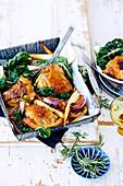 Chicken with Maple Parsnips