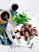 Quince, Rosemary and Red Wine Glazed Lamb