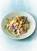 Apple and herring salad