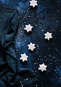 Cinnamon stars in a 'sky'