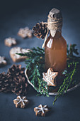 Gingerbread syrup in a bottle