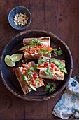 Banh-Mi-Sandwich mit Garnelen
