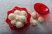 No-bake lemon and coconut snowballs