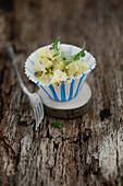 Kartoffelsalat mit sauren Gurken und Radieschen