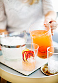 Serving Fruity Gin Spritzer
