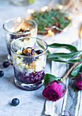 Blueberry Rice Pudding