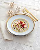 Redcurrant taleggio risotto with pistachio nuts