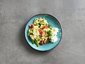 Avocado and tomato scrambled egg (low carb)