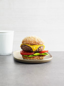 Sesame seed cheeseburger (low carb)