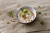 Feta quark dip with herbs