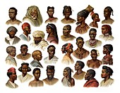Peoples of the world, 1902 illustration