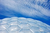 Geodesic dome inflated panels, Eden Project, UK