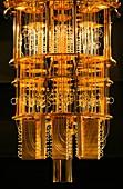 IBM Q quantum computer cryostat
