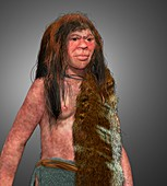 Ancient-human hybrid, illustration
