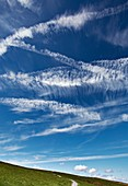Cirrus clouds over the Lake District