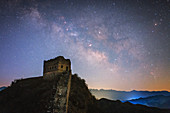 Milky Way over the Great Wall of China